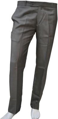 Smart Regular Fit Men's Brown Trousers