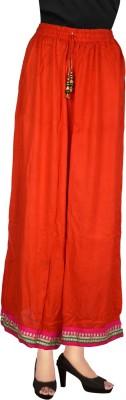 Decot Paradise Regular Fit Women's Orange Trousers