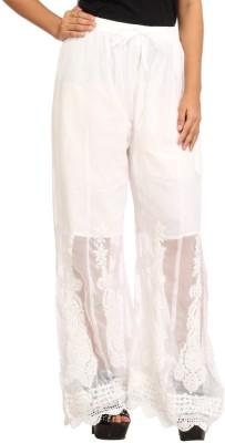 Indiankala4u Regular Fit Women's White Trousers