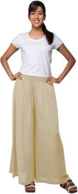 Go Colors Regular Fit Women's Cream Trousers