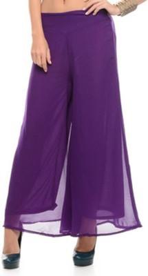 Fashion Arcade Regular Fit Women's Purple Trousers