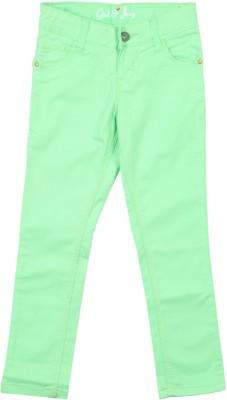 Gini & Jony Slim Fit Girls Green Trousers