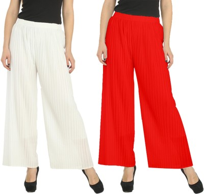 FIFO Regular Fit Women's White, Red Trousers