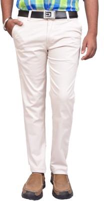 American Noti Slim Fit Men's White Trousers