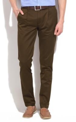 Arrow New York Regular Fit Men's Brown Trousers