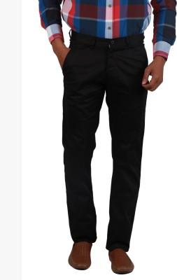 Cotton colors Slim Fit Men's Black Trousers