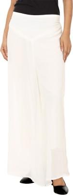 Lambency Regular Fit Women's White Trousers