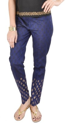 9rasa Regular Fit Women's Blue Trousers at flipkart