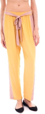 Forever9teen Regular Fit Women's Yellow Trousers