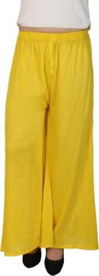 C/Cotton Comfort Regular Fit Women's Yellow Trousers