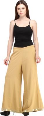GREEN EMERALD Regular Fit Women's Beige Trousers