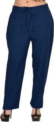 Zaributi Regular Fit Women's Dark Blue Trousers at flipkart