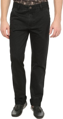 Own Voice Regular Fit Men's Black Trousers