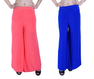 Ajaero Regular Fit Women's Pink, Blue Trousers
