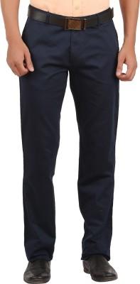 GM Regular Fit Men's Dark Blue Trousers