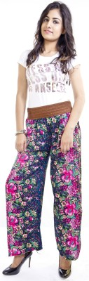 Cotton Flake Regular Fit Women's Purple, Blue Trousers