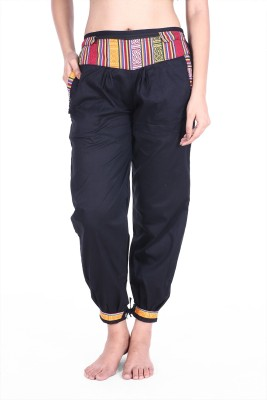 Soundarya Slim Fit Womens Black Trousers