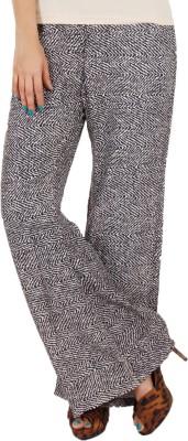 Vedic Regular Fit Women's Black Trousers