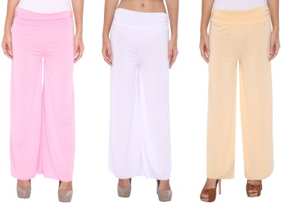 Zadine Regular Fit Women,s Pink, White, Beige Trousers