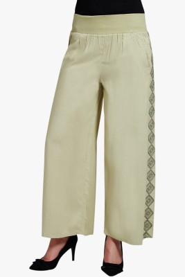 PNY Regular Fit Women's Green Trousers