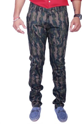 Rusty Cooper Regular Fit Men's Green, Black Trousers