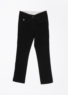 U.S. Polo Assn. Slim Fit Baby Girls Black Trousers