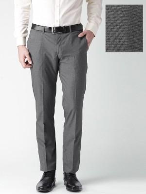Invictus Slim Fit Men's Grey Trousers