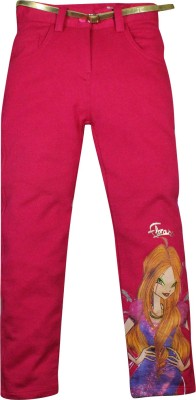 Winx Club Regular Fit Girl's Pink Trousers