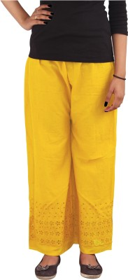 Xarans Regular Fit Women's Yellow Trousers