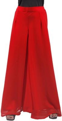 Taraz Regular Fit Women's Red Trousers
