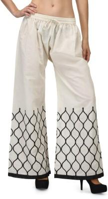 Akshiti Regular Fit Women's White Trousers