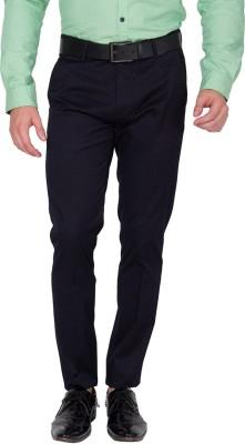 Black Coffee Slim Fit Men's Dark Blue Trousers