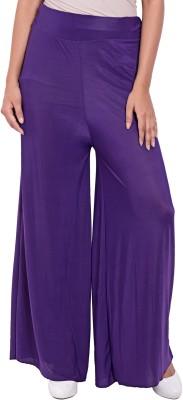 diva boutique Regular Fit Women's Purple Trousers