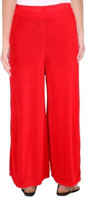 Casam Regular Fit Women's Red Trousers