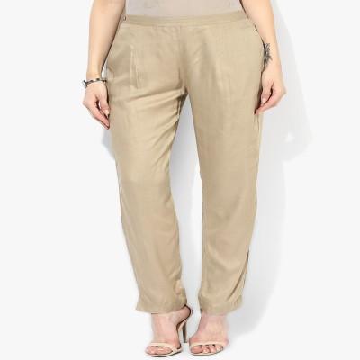 shree Regular Fit Women's Beige Trousers