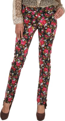 Fashion Cult Slim Fit Women's Multicolor Trousers at flipkart