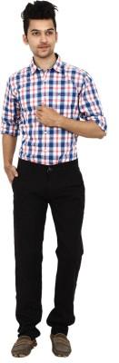 Carbon Slim Fit Men's Blue Trousers