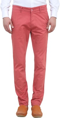 Colors Couture Slim Fit Men's Red Trousers