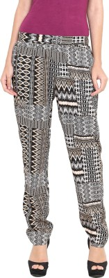 Pryma Donna Regular Fit Women's Black Trousers