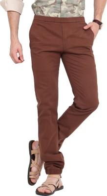 Exitplay Slim Fit Men's Brown Trousers