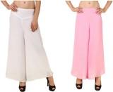 RoseBella Regular Fit Women's White, Pin...