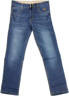 NASCENT Regular Fit Boy's Blue Trousers