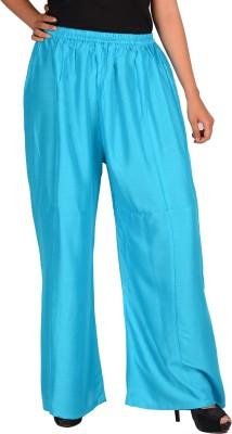 NARANGI Regular Fit Women's Light Blue Trousers