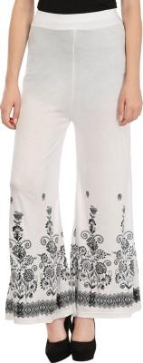 Haniya Regular Fit Women's White Trousers
