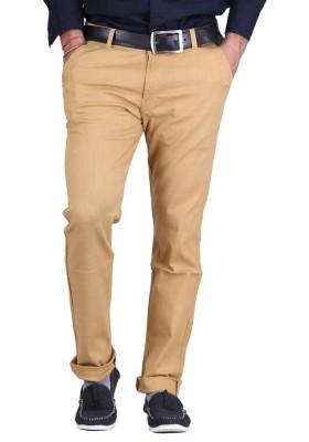 AVE Regular Fit Men's Brown Trousers