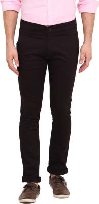Dais Slim Fit Men's Black Trousers