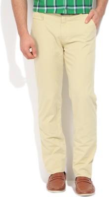 WROGN Slim Fit Men's Yellow Trousers