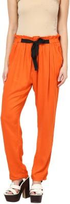 Paprika Regular Fit Women's Orange Trousers