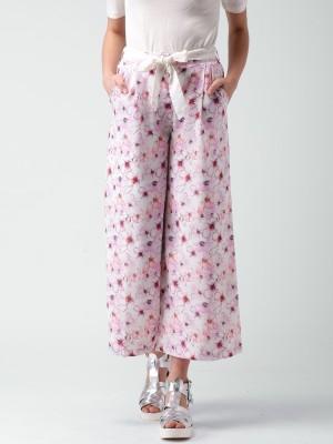 Mast & Harbour Regular Fit Women's Pink Trousers at flipkart