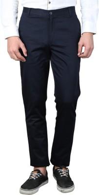 MAGNOGUY Slim Fit Men's Black Trousers
